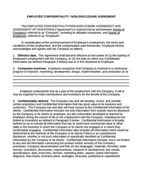 19 Confidentiality Agreement Forms In Pdf Free Documents In Pdf Hipaa Non Disclosure Agreement Template