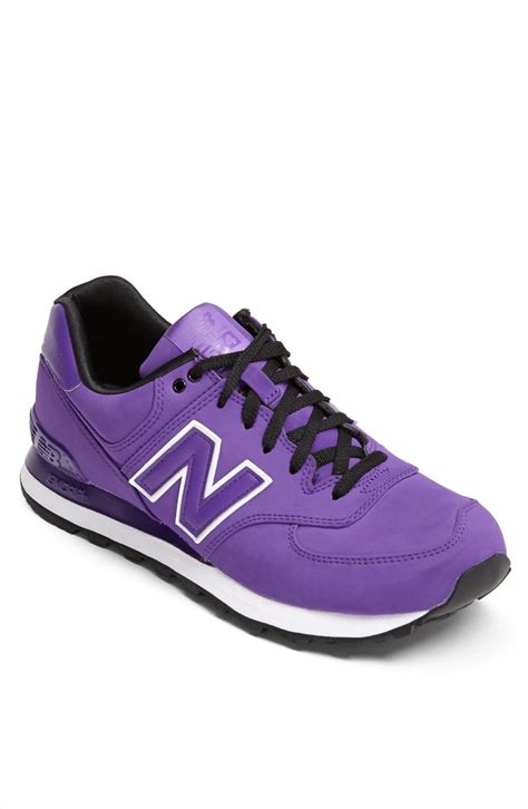 mens purple sneakers new balance 574 high roller sneaker in purple for lyst