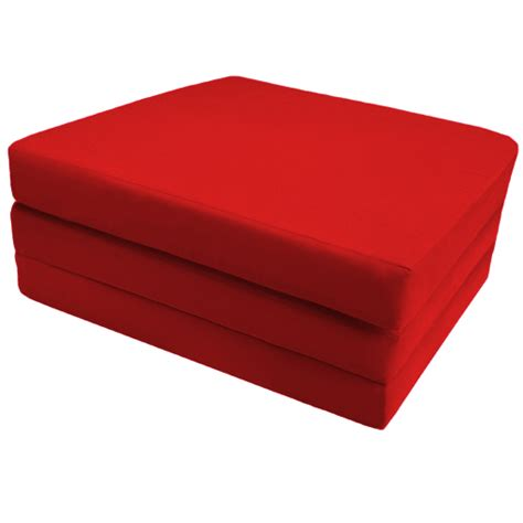 futon cube red 100 cotton fold out z bed cube guest mattress futon