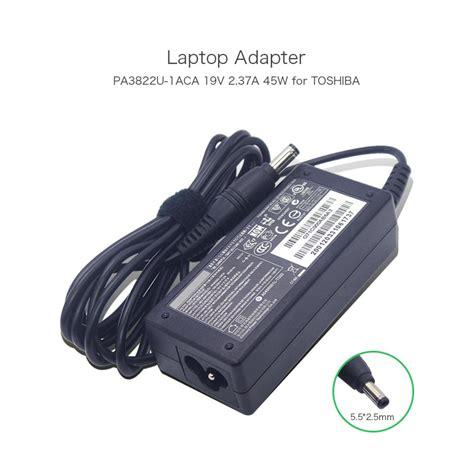 new genuine 19v 2 37a 45w laptop charger for toshiba pa3822u 1aca pa3822e 1ac3 satellite p845t
