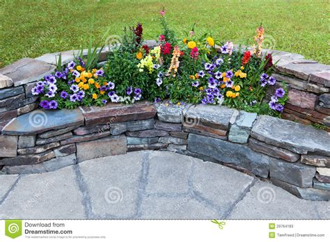 flower bench flower bench stock image image of green attraction