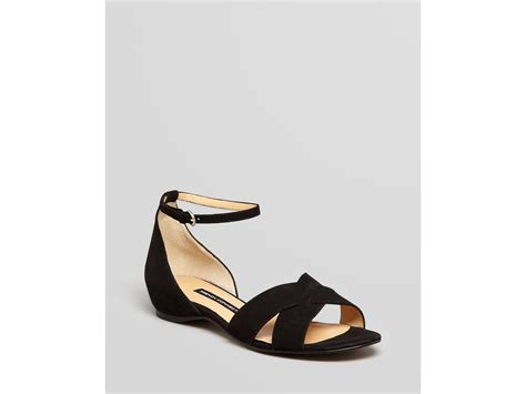 Connexion Flat Shoes connection flat sandals in black lyst