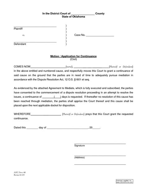 motion for continuance template best photos of motion for continuance form court motion