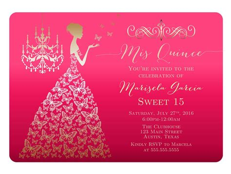 quinceanera sle wording invitation cards template quinceanera invitations hd invitation card portal and