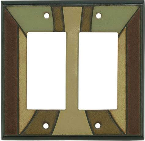 craftsman style light switches craftsman ceramic light switch plates outlet covers