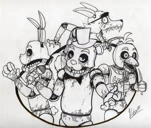 Five nights at freddy s printable coloring pages coloring panda