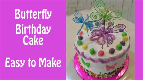 How To Make A Birthday Cake Out Of Paper - how to make a colorful butterfly birthday cake