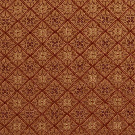 red gold upholstery fabric e661 diamond orange red and gold damask upholstery fabric