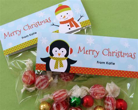 printable christmas treat bag toppers items similar to winter friends christmas treat bag