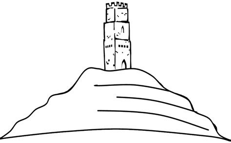 Coloring The Tower St Michel On The Hill Glastonbury Tor