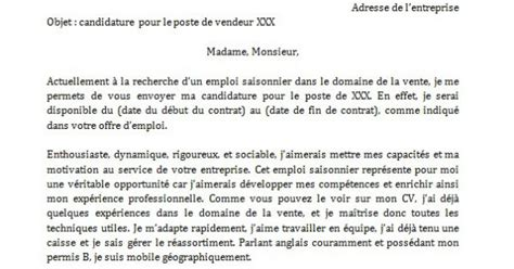 Exemple De Lettre De Motivation Québec application letter sle modele de lettre de motivation