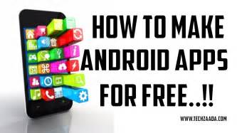 how to create an app for android how to make free android app without coding