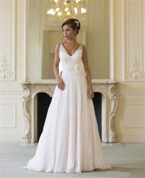 grecian cheap wedding dresses 2016 v neck flowing