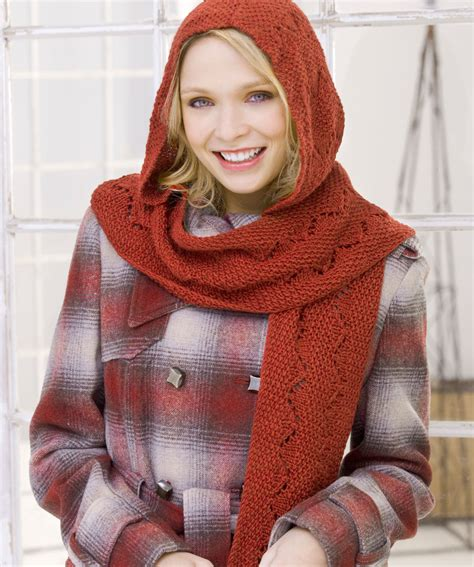 free knitting pattern hooded scarf pockets hooded scarf pattern free images