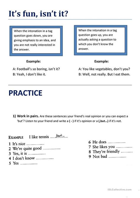 pattern for tag questions pattern worksheets 187 intonation pattern worksheets free