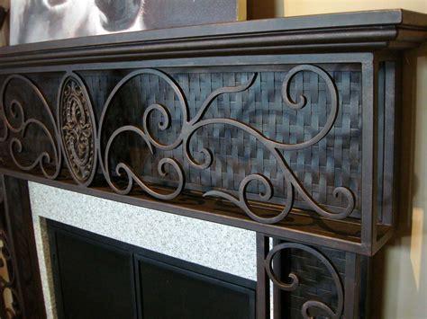 wrought iron fireplace mantels