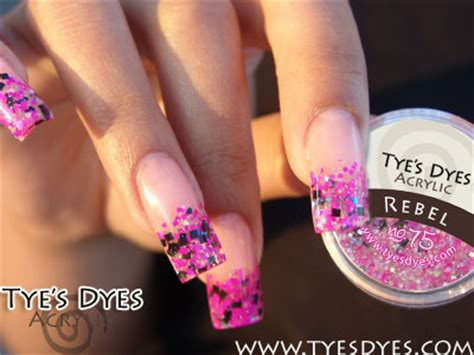 pre mixed hot pink and black chunky glitter acrylic