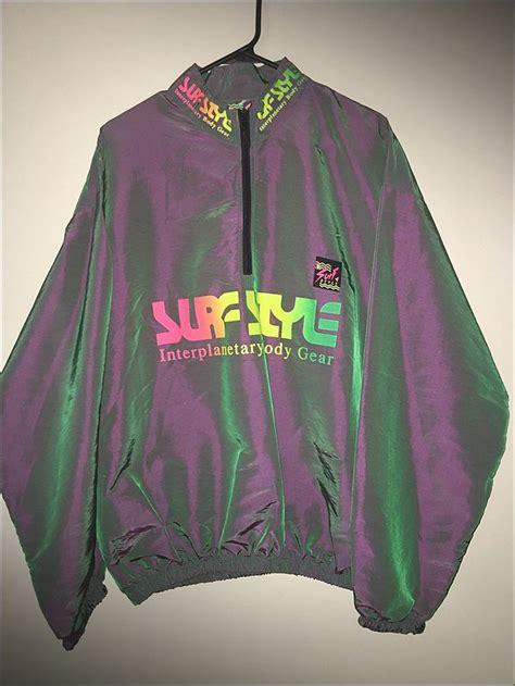 color changing jacket vintage 90 s surf style iridescent color change