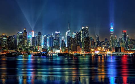 new york lighting new york ny magical new york city in lights hdr 1536172 wallpapers13 com