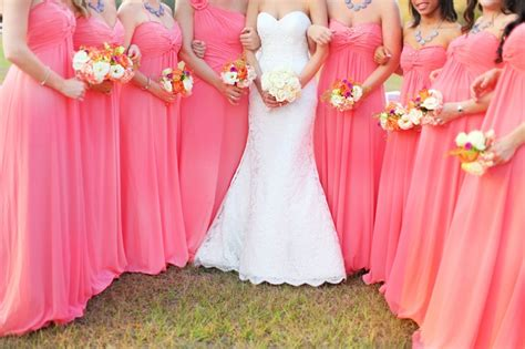 modern elegant coral and gray wedding every last detail