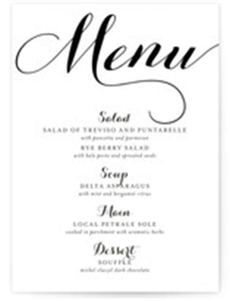 elegant formal dinner menu ideas wedding menus dinner party menu cards minted