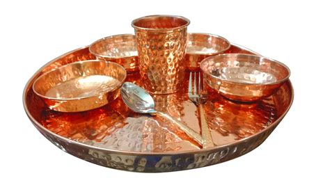 copper dining set india asiacraft copper dinner set of thali plate with bowl