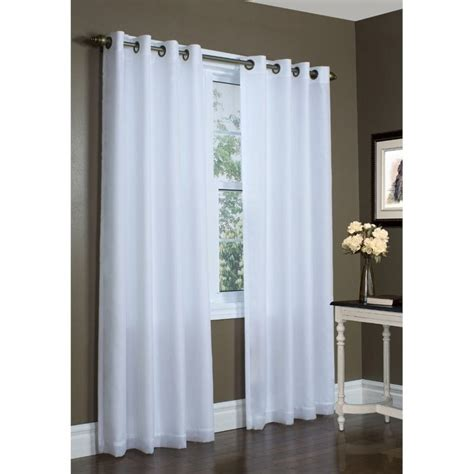 95 white curtains commonwealth thermavoile 95 quot grommet curtain panel in