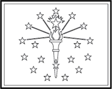 indiana state flag colouring pages