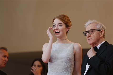 emma stone woody allen cannes film festival red carpet day 3