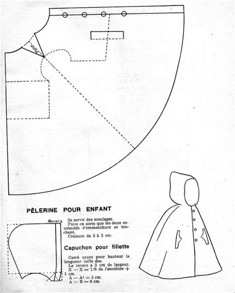 pattern for black cape the 1950s 1951 kid s hooded cloak cloaks hooded cloak