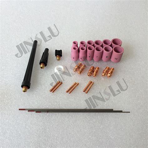 Nozzle Kramik China Size 6 9 free shipping 141pcs wp9 tig welding consumables ceramic