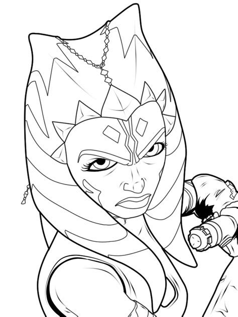 the gallery for gt star wars clone wars ahsoka coloring pages