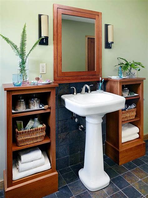 bathroom astounding bathroom pedestal sink storage