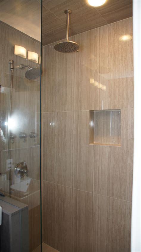 large format tiles small bathroom large format porcelain tiles 32x32 quot in a small bathroom