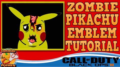zombie emblem tutorial black ops 3 zombie pikachu emblem tutorial youtube