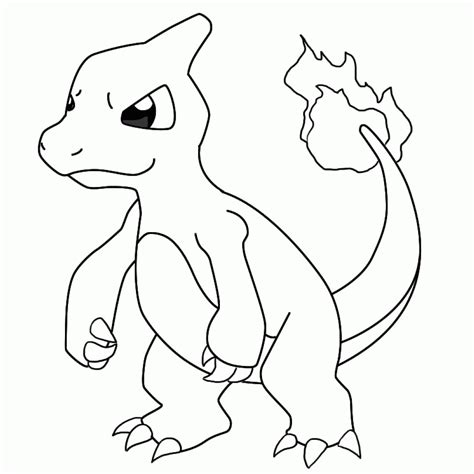 pokemon charmander coloring page coloring home