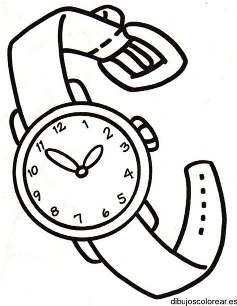 imagenes para colorear reloj dibujo de un reloj