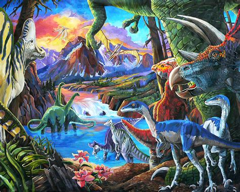 Home Decor Online Sale dinosaur painting by nadi spencer