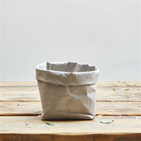 Washable Paper Bag Pattern | grey washable paper plant bag by best buds belfast
