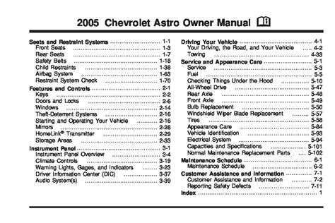 car owners manuals free downloads 2005 chevrolet astro interior lighting 2005 chevrolet astro owner s manual car maintenance tips