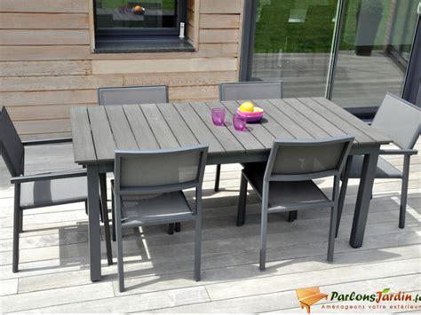 Salon De Jardin En Aluminium Et Composite Watson Sur Salon De Jardin A Auchan
