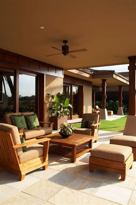 striking tropical patio designs    view