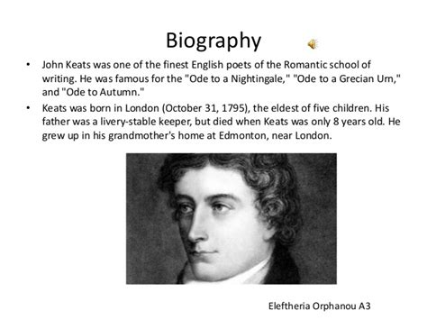 john keats biography in english john keats