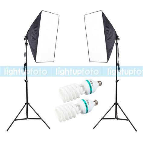 Softbox 50x70 inno photography kit 1600w 110v 4 socket 50x70 softbox stand daylight bulb photo studio