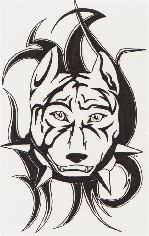 pitbull tattoo by darkchibiwolf on deviantart