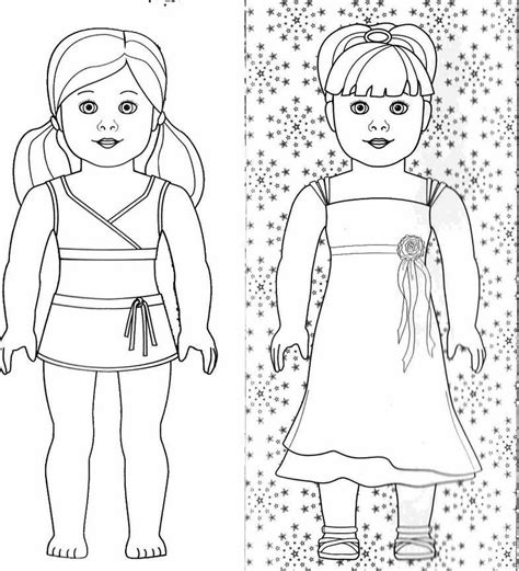 Free Coloring Pages Of American Girl Doll Sheet American Doll Coloring Pages To Print Free