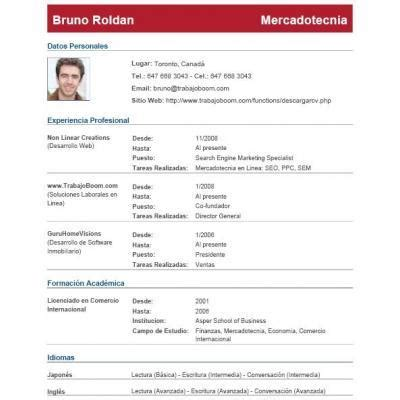 Modelo De Curriculum Vitae Profesional En Nicaragua Modelo De Curriculum Vitae Honduras Modelo De Curriculum Vitae