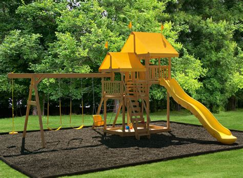 playmor swing sets play mor 505 golden moments wooden swing sets