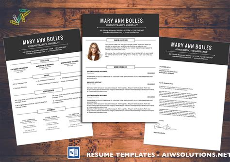 creative resume template word 2007 resume template cover letter microsoft word images