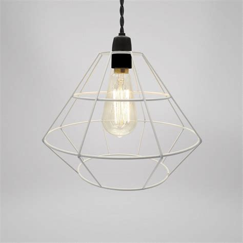 wire cage pendant light modern industrial black white copper metal cage wire